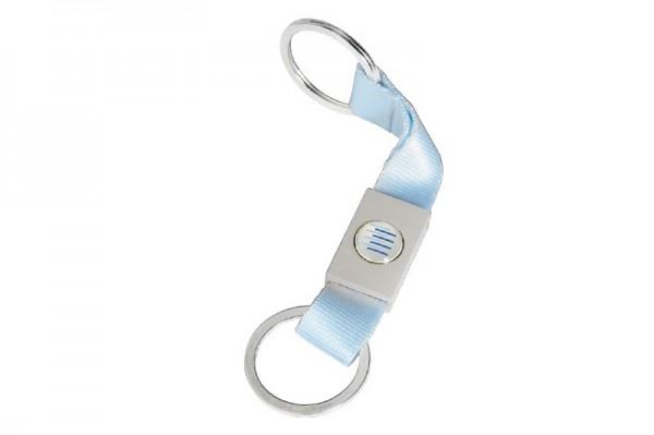 Schlüsselanhänger hellblau - kurz
