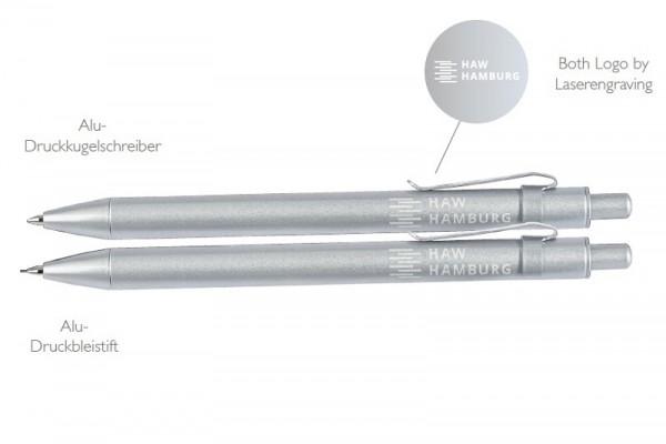 Aluminium Kugelschreiber und Druckbleistift Set